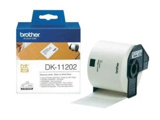 Brother DK11202 shipping etiketter - 300 stk - 62 x 100mm - original