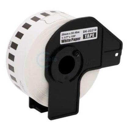 Brother DK22210 rulle etiketter - 2.9cm x 30.5m - Kompatibel