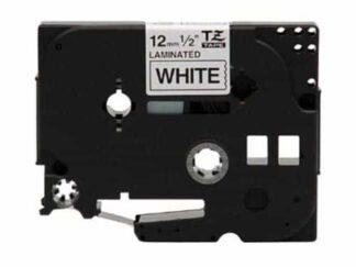 Brother TZe211 sort tekst hvid - 6mm x 8m - Kompatibel