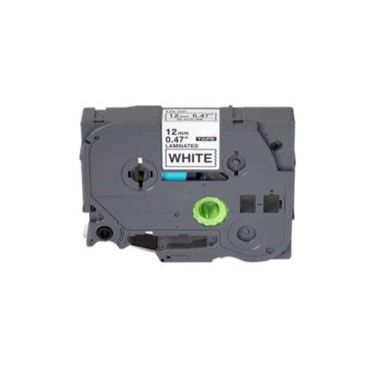 Brother TZe231 Tape sort tekst på hvid - 12mm x 8m - Kompatibel