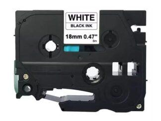 Brother TZe241 Tape sort tekst på hvid - 18mm x 8m - Kompatibel