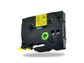 Brother TZe631 Tape sort tekst på gul - 12mm x 8m - Kompatibel