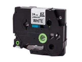 Brother Tape TZe251 sort tekst på hvid tape 24mm x 8m - Kompatibel