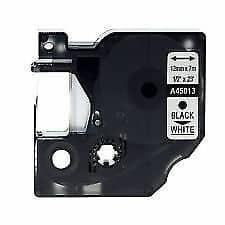 Dymo 45013 D1 standardtape sort på hvid - 12mm x 7m - Kompatibel