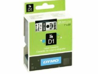 Dymo 53713 D1 standardtape sort på hvid - 24mm x 7m - original