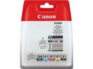 Multi pack! Canon PGI-580/CLI-581 BK-C-M-Y blækpatron 33.6ml - 2078C005 - original