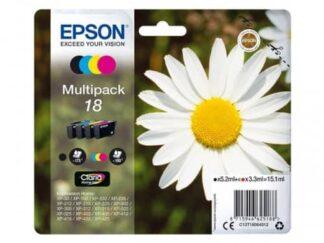 Multi pack! Epson 18 BK-C-M-Y blækpatron 15