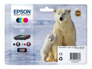 Multi pack! Epson 26 BK-C-M-Y blækpatron 19