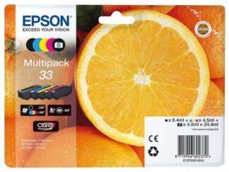 Multi pack! Epson 33 BK-C-M-Y blækpatron 24