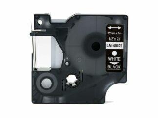 Dymo 45021 D1 standardtape hvid på sort - 12mm x 7m - Kompatibel - S0720610