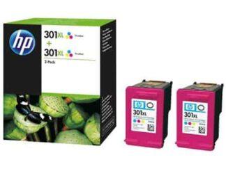 Twin-pack! HP 301XL farve blækpatron - D8J46AE - original