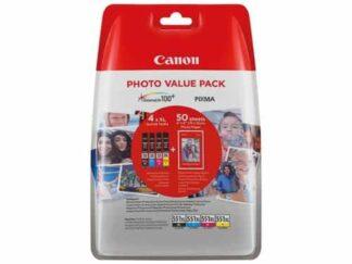 Value pack! Canon CLI-551XL BK-C-M-Y blækpatron 44ml - 6443B006 - original