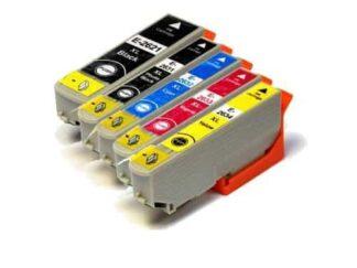 Rabat sæt! Epson 26XL - 5 farver PBK-BK-C-M-Y - Uoriginal