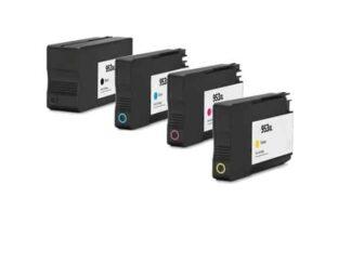 Rabat sæt! HP 953XL - 4 farver BK-C-M-Y - Kompatibel