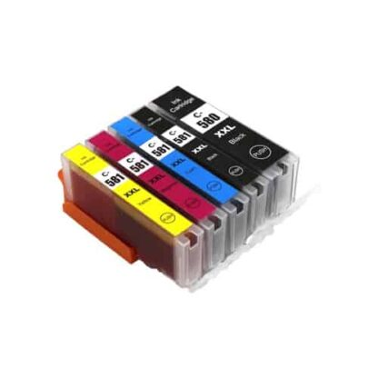 Rabat sæt! Canon PGI-580XXL / CLI-581XL - 5 farver PBK-BK-C-M-Y - Kompatibel