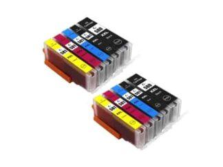 Rabat sæt! Canon PGI-580XXL / CLI-581XL - 2 x 5 farver PBK-BK-C-M-Y - Kompatibel