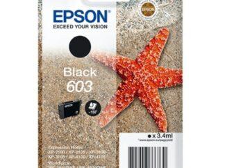 Epson 603 sort blækpatron 3.4 ml |C13T03U14010| original