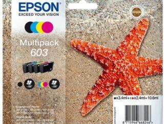 Multi pack! Epson 603 BK-C-M-Y blækpatron 10.6 ml |C13T03U64010| original