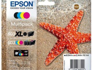Multi pack! Epson 603XL BK-C-M-Y blækpatron 20.9 ml |C13T03A64010| original
