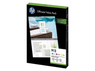 Value pack! HP 912 C-M-Y blækpatron 9 ml  6JR41AE  original