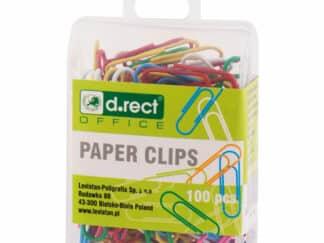 Clips 28 mm 1 * 100 papirclips farvet