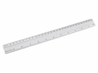 Lineal 24 stk sort aluminium 30cm