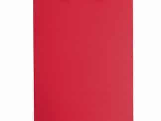 Clipboard A4 rød med klemme