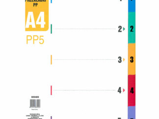 Faneblade A4 1-5 i plastik