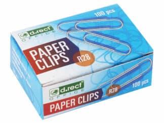 Clips 28mm 1 * 100 papirclips sølvfarvet