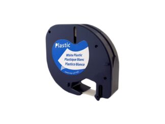 Dymo 91201 sort plastiktape 12 mm - Kompatibel S0721610