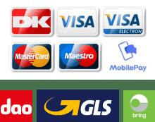 kreditkort og levering
