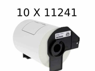 Brother 10 stk DK11241 shipping etiketter - 10 x 200 stk - 102 x 152mm - Kompatibel - DK11241
