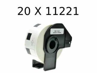 Brother 20 stk DK11221 etiketter – 20 x 1000 stk – 23 x 23mm – Kompatibel – DK11221