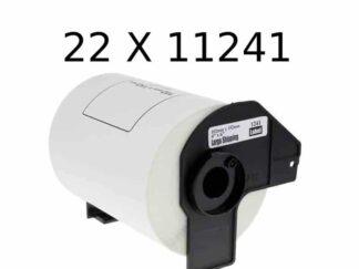 Brother 22 stk DK11241 shipping etiketter - 22 x 200 stk - 102 x 152mm - Kompatibel - DK11241