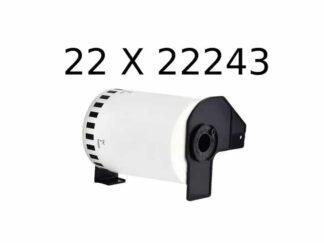 Brother 22 stk DK22243 kontinuerlige papir etiketter - 10.2cm x 30.5m - Kompatibel - DK22243