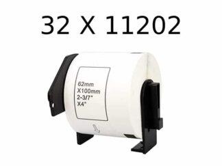 Brother 32 stk DK11202 - shipping etiketter - 300 stk - 62 x 100mm - Kompatibel - DK11202