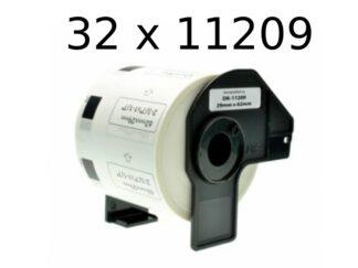 Brother 32 stk DK11209 adresseetiketter - 800 stk - 29 x 62mm - Kompatibel - DK11209