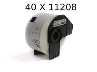Brother 40 stk DK11208 adresseetiketter - 400 stk - 38 x 90mm - Kompatibel - DK11208