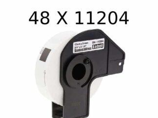 Brother 48 stk DK11204 etiketter - 400 stk - 17 x 54mm - Kompatibel - DK11204