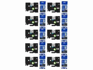 Brother Rabat sæt 10 stk TZe231 Tape sort tekst på hvid – 12mm x 8m – Kompatibel – TZe231