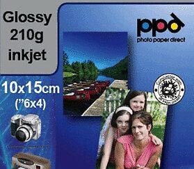 Fotopapir glossy 210 g 100x150mm A6