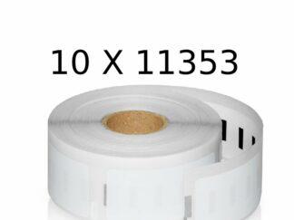 Dymo 10 stk 11353 universaletiketter 10x 1000 stk. 25x13mm. Dymo - S0722530 - kompatibel