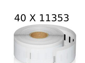Dymo 40 stk 11353 universaletiketter 40 x 1000 stk. 25x13mm. Dymo - S0722530 - kompatibel