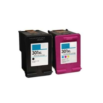 Rabat sæt! HP 301XL – 1 x Sort 1 x Farve – Kompatibel – HP 301 XL – 33 ml