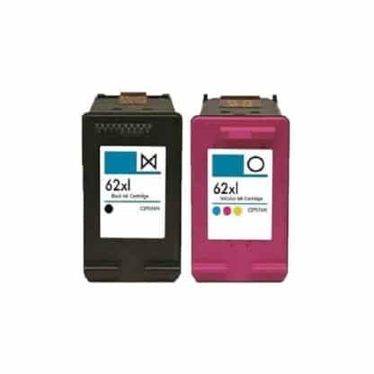 Rabat sæt! HP 62XL – 1 x Sort 1 x Farve – Kompatibel – HP 62 XL – 35 ml