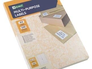 Universaletiketter 16 stk pr ark 105 x 37mm 100 ark 1600 labels i alt