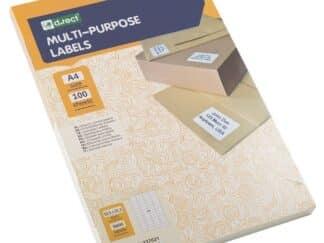 Universaletiketter 56 stk pr ark 52,5 x 21,2mm. 100 ark 5600 labels i alt