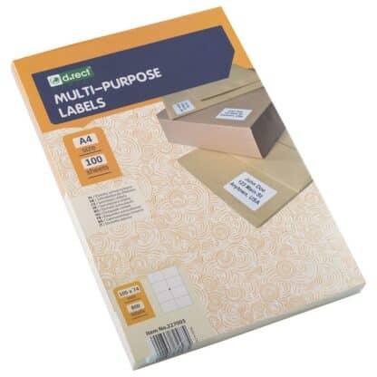 Universaletiketter 8 stk pr ark 105 x 74mm 100 ark 800 labels i alt